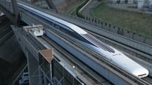 Новый  японский поезд на магнитной подушке прокатил пассажиров на скорости 500 км/ч